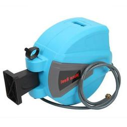 100' Auto Garden Water Hose Reel Retractable Automatic Wall