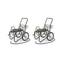 Liberty Garden 2 Wheel Steel Frame Water Hose Reel Basket Ca
