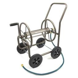 200' Steel 4 Wheel Garden Hose Reel Cart Portable Storage Po