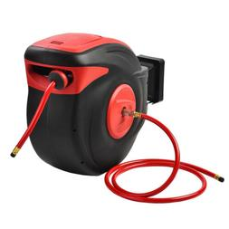 "3/8"" X 100' Retractable Air Compressor Hose Reel 300 PSI Aut"