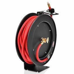 "3/8"" x 50' Auto Rewind Retractable Air Hose Reel Compressor"