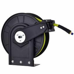 "3/8"" X 50' Retractable Air Compressor Hose Reel 300PSI Auto"