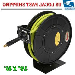 "3/8"" X 50' Retractable Air Compressor /Water Hose Reel 300PS"