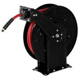 "3/8"" x 65' Auto Rewind Retractable Air Hose Reel 300 PSI Rub"