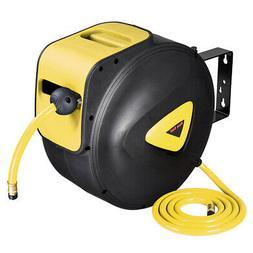 "3/8"" X 65' Retractable Air Hose Reel Auto Compressor Rubber"