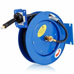 "3/8""x25' Auto Rewind Retractable Air Compressor Hose Reel 30"