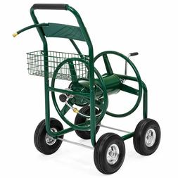 300ft water hose reel cart w basket