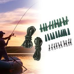 32pcs Fishing Ring Swivels Carp Safety <font><b>Lead</b></fo