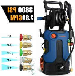 3800PSI 2.8GPM Electric Pressure Washer High Power Cleaner W