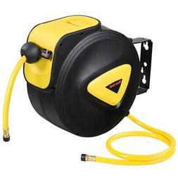 "5/16"" X 33' Retractable Air Hose Reel Auto Compressor Rubber"