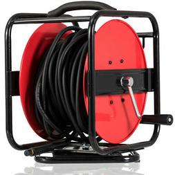"5/16"" X100' Hand Crank Air Hose Reel 1/4"" NPT 300PSI Manual"