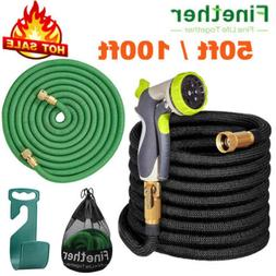 50/100ft Expandable Flexible Garden Water Hose Retractible P
