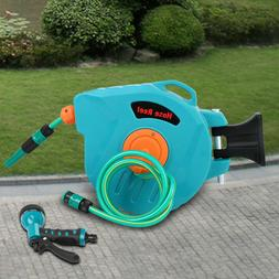 65' Auto Rewind Retractable Hose Reel Garden Watering Wall M