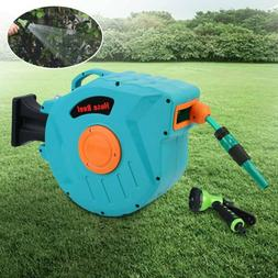 65FT Garden Hose Reel Automatic Rewind Slow Retraction Wall