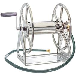 Liberty Garden 709-S2 Steel Wall/Floor Mounted Hose Reel, Ho