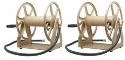 Liberty Garden 709 Steel Wall/Floor Mounted Hose Reel, Holds