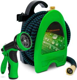 75FT Expandable Garden Hose with Hose Reel with 9 Function S