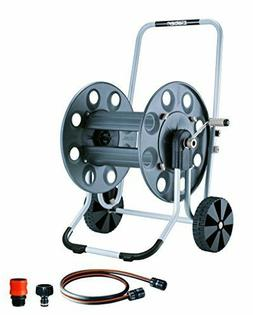 Claber 8894 Metal Gemini Garden Hose Reel with 230-Foot 5/8-