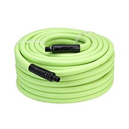 Flexzilla Air Hose, 1/2 in. x 100 ft, 3/8 in. MNPT Fittings,