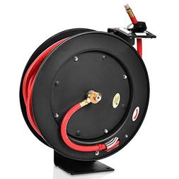 Goplus Auto Rewind Retractable Air Hose Reel, Hose Compresso