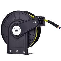 Goplus Air Hose Reel Auto Rewind Steel Compressor Hose w/Ret