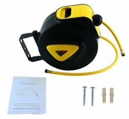 "Retractable Air Compressor Water Hose Reel 33'x5/16"" Mountab"