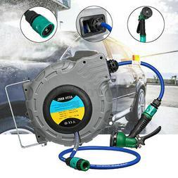 Auto Reel Retractable Hose Pipe Water Sprayer Garden Car Cle