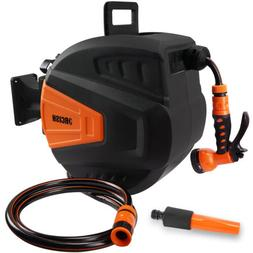 ORCISH Auto-Retractable Garden Hose Reel 66Ft,300PSI 9-Funct