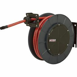 Ironton Auto Rewind Air Hose Reel w/3/8in x 50ft Hybrid Poly
