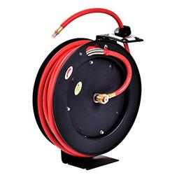 Goplus Auto Rewind Retractable Air Hose Reel, Hose Compresso