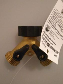 Gilmour Brass Dual Hose Y Connector Water Valves - 13GF
