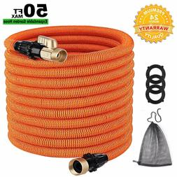 TACKLIFE Classic Essential 50ft Expandable Garden Hose with