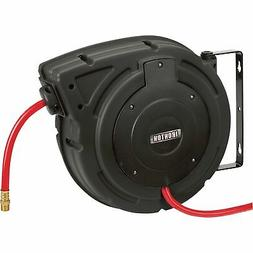 Ironton Compact Air Hose Reel With 3/8in x 50ft Hybrid Polym