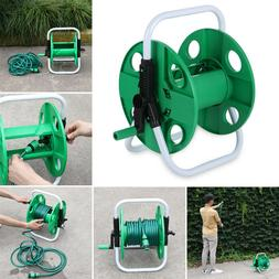 Compact Portable Garden Free Standing Hose Reel Trolley Hold