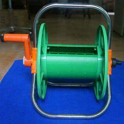 Compact Portable Garden Free Standing Hose Reel Holder Cart