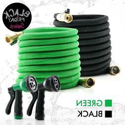 Deluxe 25 50 100 FT Expandable Flexible Garden Water Hose Sp