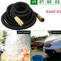 Deluxe 25 50 75 Feet Expandable Flexible Garden Water Hose P