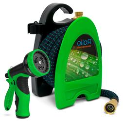 Rolio 50 Feet Expandable Garden Hose with 9 Function Nozzle