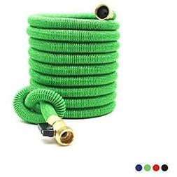 Expandable Garden Hoses 50Ft Extra Strong Reel. Brass Connec