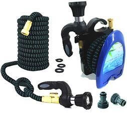 Smart Hose Expandable Garden Hose 50ft + Reel + Nozzle-DELUX