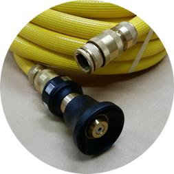 FIRE REEL HOSE BRASS FITTED WATER HOSE 18mm 3/4 x 36m NOZZLE