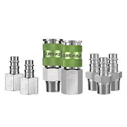 "Flexzilla Pro High Flow Coupler & Plug Kit , 1/4"" Body, 3/8"""