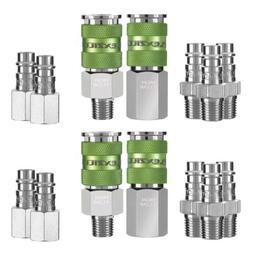 Flexzilla High Flow Coupler & Plug Kit, 14 pc 1/4 NPT