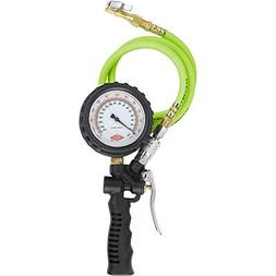Flexzilla Inflator with 3' and 15' Quick Connect Hose, Lock-
