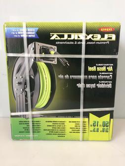 Flexzilla Open Face Retractable Air Hose Reel, 3/8 in. x 50