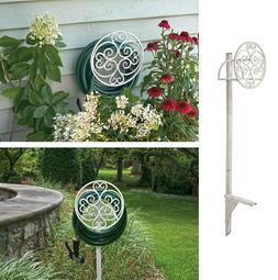 Free Standing Garden Hose Holder Stand Decorative Hanger Pos