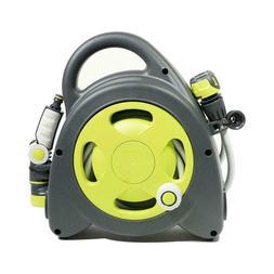 Garden Aquabag Maxi Portable Hose Reel Lime Nozzle Outdoor L