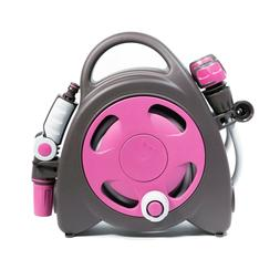 Garden Aquabag Mini Portable Hose Reel Fushia Watering Lawn