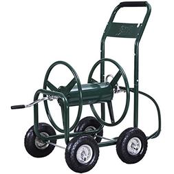 Giantex Garden Hose Reel Cart 4-Wheel Lawn Watering Outdoor