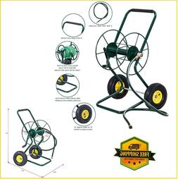 Garden Hose Reel Cart Manual Water Hose Reels Portable Wheel